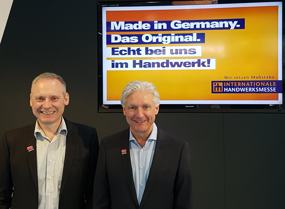 Volker Geyer und Thomas Issler bei der IHM