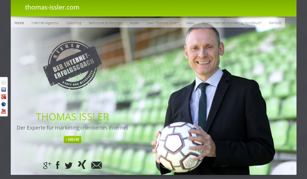 Relaunch Trainer-Website von Thomas Issler